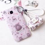 เคส Huawei G7 Plus พลาสติก TPU ลายหมีน้อย พร้อมสายคล้องมือและกระเป๋าเก็บสายหูฟัง ราคาถูก