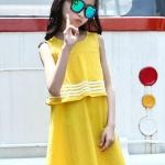 ชุดกระโปรง สีเหลือง แพ็ค 5 ชุด ไซส์ 120-130-140-150-160 (เลือกไซส์ได้)