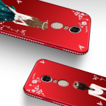 เคส Xiaomi Redmi 5 Plus ซิลิโคนลายผู้หญิงแสน สวยมากๆ ราคาถูก (สีของสายคล้องแล้วแต่ร้านจีนแถมมา)