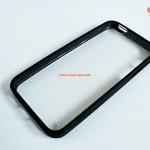 เคสไอโฟน 5 ขอบยาง หลังใส สีดำ