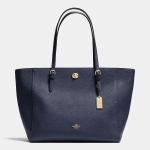 Preorder COACH TURNLOCK TOTE IN CROSSGRAIN LEATHER Style No: 36454