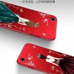 เคส Huawei Y6II พลาสติก TPU ลายผู้หญิงสวยงามมาก ขอบประดับคริสตัล พร้อมสายคล้อง ราคาถูก