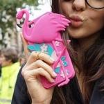 เคส iPhone 6s / iPhone 6 (4.7 นิ้ว) ซิลิโคน TPU 3 มิติ นกฟามิงโก้ แสนน่ารัก ราคาถูก