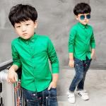 เสื้อ สีเขียว แพ็ค 3 ชุด ไซส์ 90-100-110 (เลือกไซส์ได้)