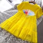 ชุดกระโปรง สีเหลือง แพ็ค 5 ชุด ไซส์ 7-9-11-13-15