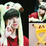 หมวกปิกาจูดุ๊กดิ๊ก ขยับหูได้ แบบ Park Jihoon