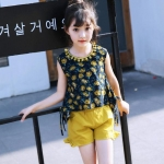 เสื้อ+กางเกง สีเหลือง แพ็ค 6 ชุด ไซส์ 110-120-130-140-150-160
