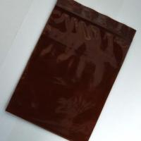 ถุงซิปสีชาแบบทึบ (สีโกโก้เข้ม) สั่งทำขั้นต่ำ 25 กก