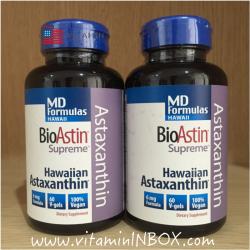 Nutrex, BioAstin, Supreme, 6 mg, 60 V-Gels