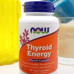 # ไทรอยด์ # Now Foods, Thyroid Energy, Thyroid Support, 90 Veggie Caps