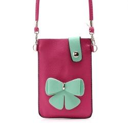 กระเป๋าใส่โทรศัพท์ รุ่น Bowknot Leather Pouch