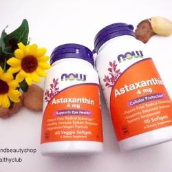 # ผิวสวย # Now Foods, Astaxanthin, 4 mg, 90 Softgels