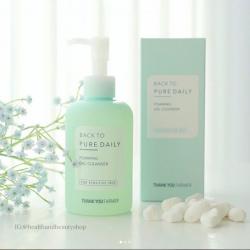# โฟมล้างหน้า # Thank You Farmer, Back to Pure Daily, Foaming Gel Cleaner, For Sensitive Skin, 7.03 fl oz (200 ml)