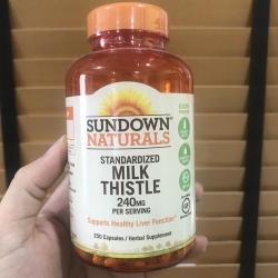 #ไขมันพอกตับ # Rexall Sundown Naturals, Milk Thistle Xtra, 240 mg, 250 Capsules