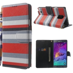 Case Samsung Galaxy Note 4 รุ่น Colored Stripe