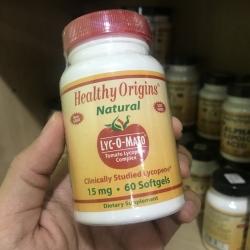# ทนแดด # Healthy Origins, Lyc-O-Mato, Tomato Lycopene Complex, 60 Softgel ( ฝาแดง )