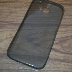 เคสนิ่มใส (หนา 0.3 mm) HTC One M8 สีเทา