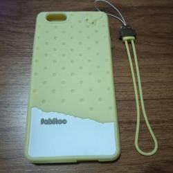 เคสนิ่ม ซิลิโคน OPPO R1 สีเหลือง