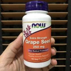 # ฉลากเปื้อน # Now Foods, Grape Seed, Mega Potency, 90 Vcaps