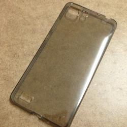 เคสนิ่มใส (หนา 0.3 mm) Vivo X5 สีเทา