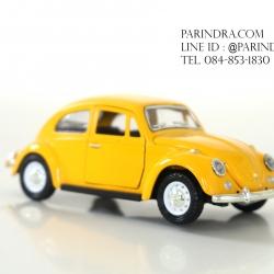 โมเดลรถเหล็กรถเต่า Volkswagen 1967 อัตราส่วน 1:32 สีเหลืองเข้ม