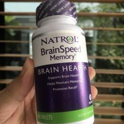 # ตัวช่วยก่อนสอบ # Natrol, BrainSpeed Memory, 60 Tablets