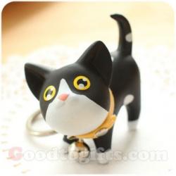 พวงกุญแจน้องแมวขาว-ดำ