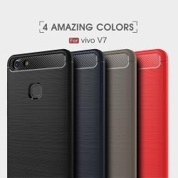 เคสนิ่ม Vivo V7 Plus รุ่น ลายคาร์บอนเคฟล่า