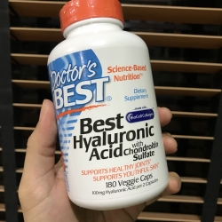 # ริ้วรอย # Doctor's Best, Best Hyaluronic Acid, With Chondroitin Sulfate, 180 Capsules