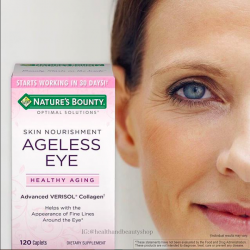 # ใต้ตา # Nature's Bounty, Optimal Solutions, Ageless Eye Skin Nourishment, 120 Caplets