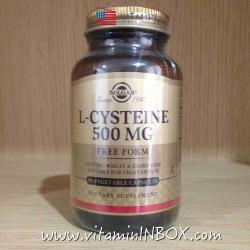 # ผิวขาว # Solgar, L-Cysteine, 500 mg, 90 Veggie Caps