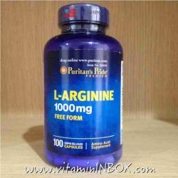 Puritan's Pride L-Arginine 1000 mg 100 Capsules