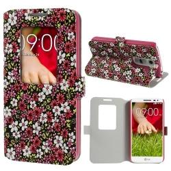 Case LG G2 mini เคสฝาพับ ลายดอกไม้