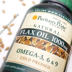 Puritan's Pride Natural Flax Oil 1000 mg 120 Softgels