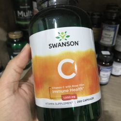 Swanson Vitamin C w/Rose Hips 1,000 mg 250 Caps