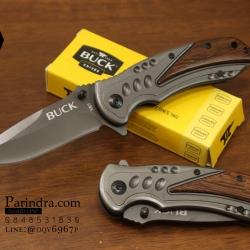มีดพับ Buck X57 ด้ามไม้ สวยเข้ม
