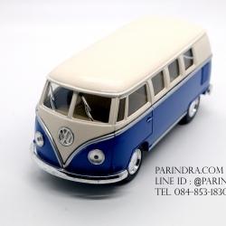 โมเดลรถเหล็ก รถตู้โฟล์ค รถเต่า Volksawagen Classical bus 1962 สีน้ำเงิน