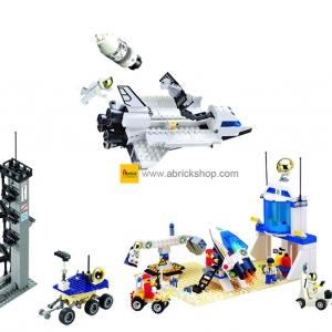 อวกาศ (Space) E-set 1. ตัวต่อเลโก้จีน ทีมสำรวจดวงจันทร์ (ชุด 4 กล่อง)