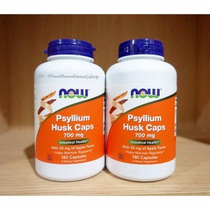 # แนะนำ # Now Foods, Psyllium Husk Caps, 700 mg, 180 Capsules