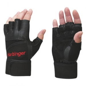 # งาน Sale # HARBINGER Pro Series Wristwrap Glove Black 2 glove
