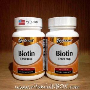 Vitacost Biotin 5000 mcg - 120 Capsules