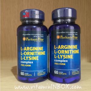 # tri-amino #Puritan's Pride L-Arginine L-Ornithine L-Lysine 60 Tablets