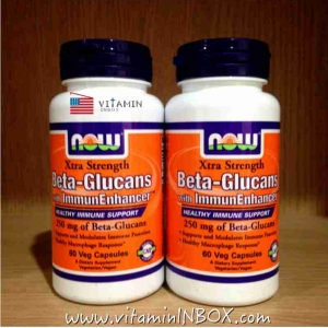 Now Foods, Beta-Glucans, with ImmunEnhancer, Xtra Strength, 250 mg, 60 Vcap