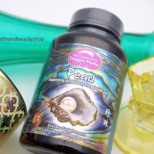 # รูขุมขน # Dragon Herbs, Pearl Powder, 500 mg, 100 Capsules