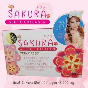 Sakura Gluta Collagen PLUS +++ | ขนาดบรรจุ 1 กล่อง 10 ซอง