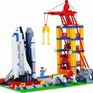 อวกาศ (Space) E-515. ตัวต่อเลโก้จีน ฐานปล่อยกระสวย