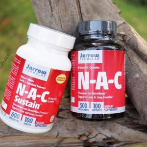 # ผิวขาว ดูดซึมดี # Jarrow Formulas, N-A-C Sustain, N-Acetyl-L-Cysteine, 600 mg, 100 Bilayer Tablets