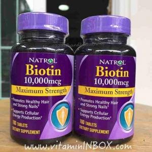 # ผมร่วง # Natrol Biotin 10,000 mcg 100 Tablet