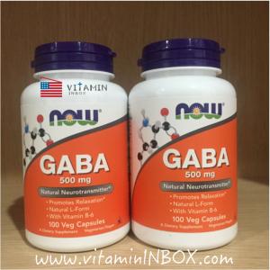 # กังวล ก่อนนอน # Now Foods, GABA, 500 mg, 100 Capsules