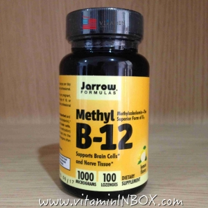 # อ่อนเพลีย # Jarrow Formulas, Methyl B-12, Lemon Flavor, 1000 mcg, 100 Lozenges